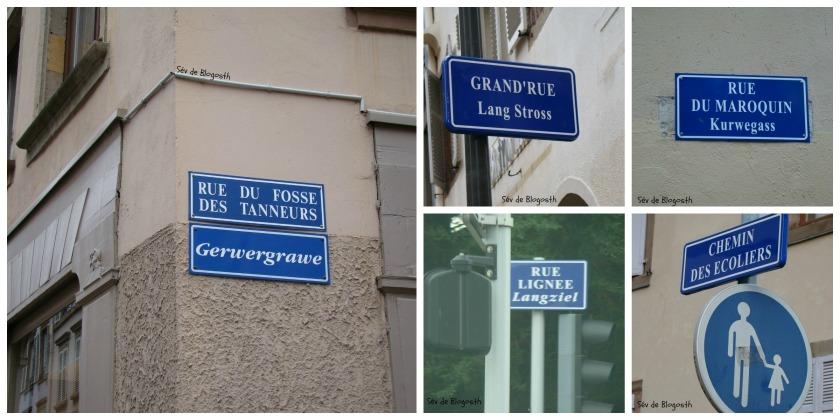 Plaques rue