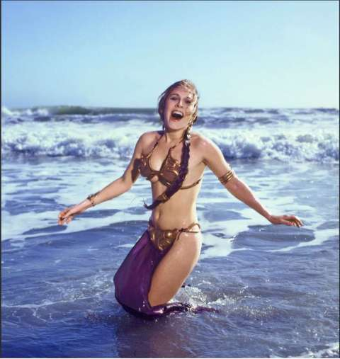 Carrie_Fisher_Baignade
