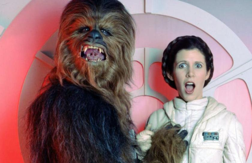 Chewbacca_Carrie_Fisher_Princesse_Leia