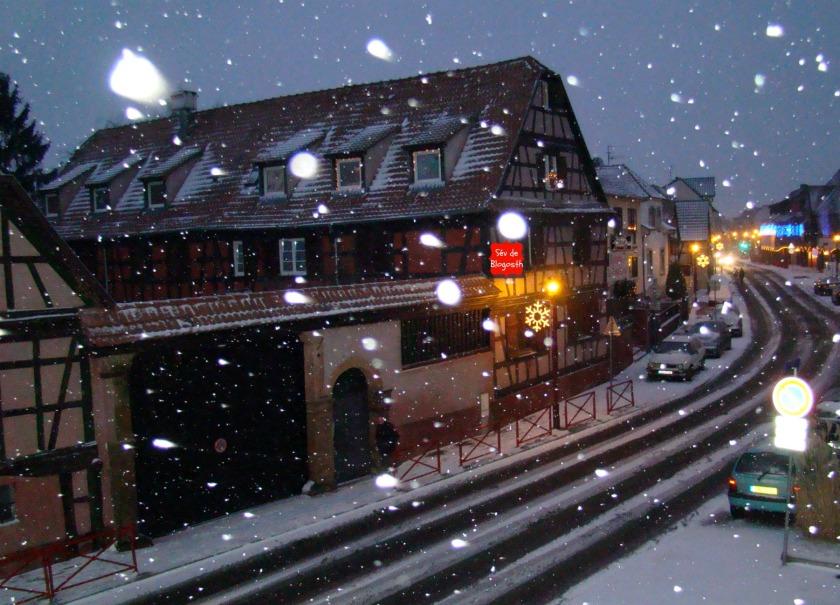 Nuit chez nous neige